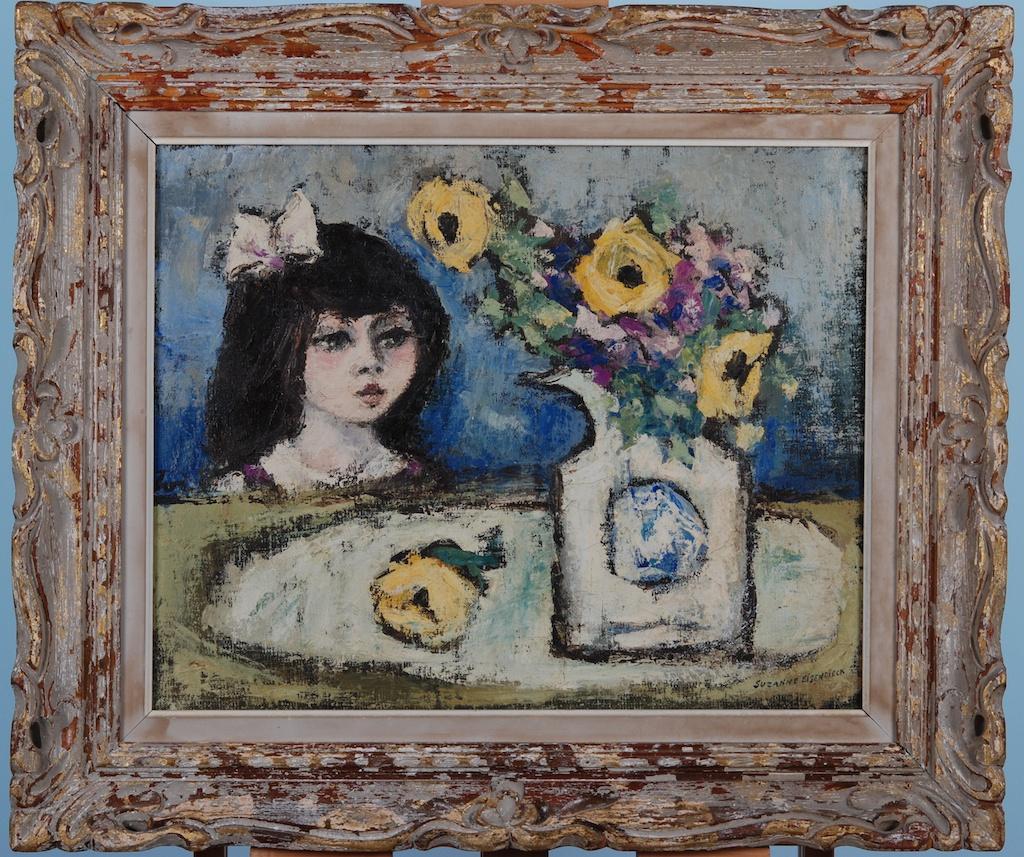 Suzanne Eisendieck Girl Admiring Flowers 2