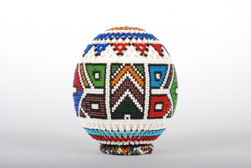 African Beaded Ostrich Egg