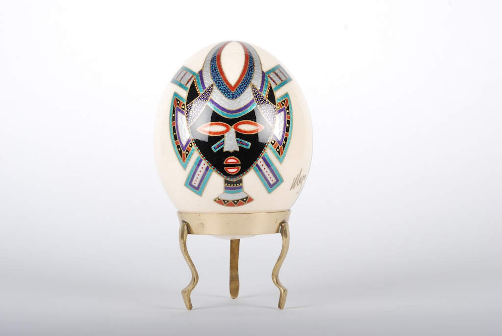 African Painted Ostrich Egg
