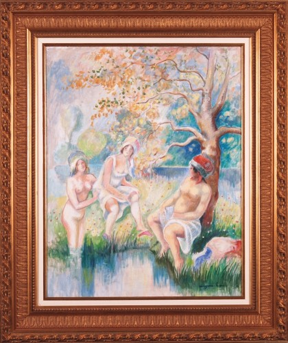 Bathers at Pond