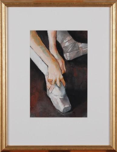 Girl Tying Shoe