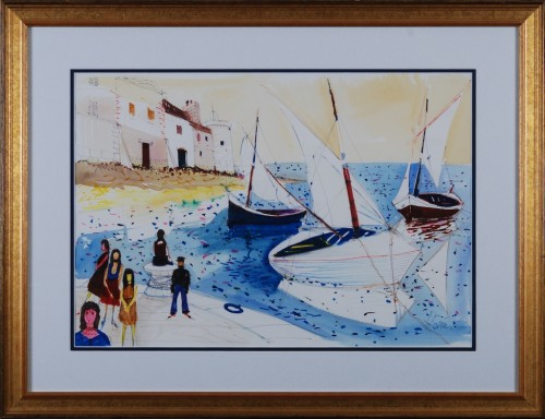 Six figures - Three boats