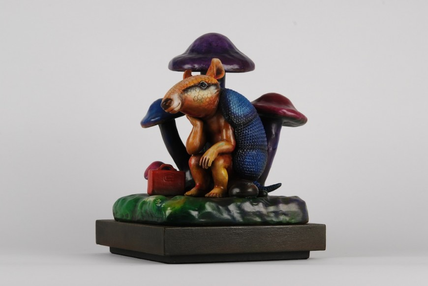 Sergio bustamante armadillo thinking art collection for Original sculptures for sale