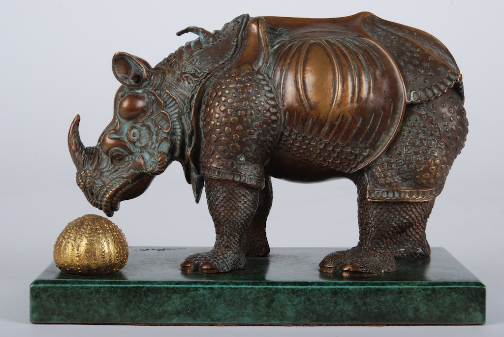 salvador dali bronze rhinoceros art collection for sale original artwork sculptures. Black Bedroom Furniture Sets. Home Design Ideas